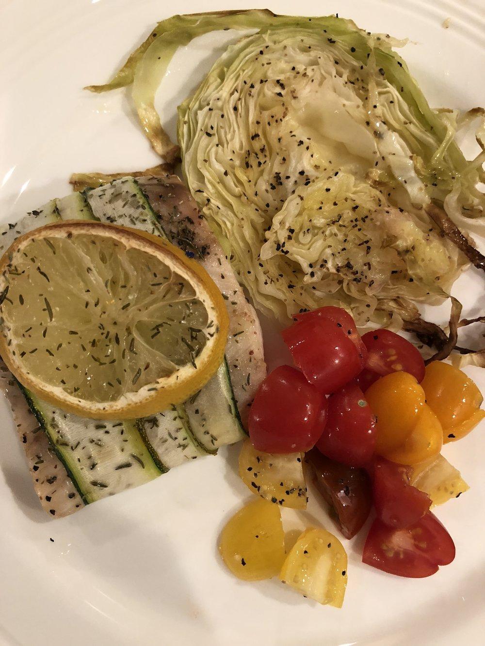 Zucchini Wrapped Cod