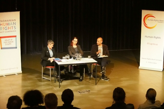 - Panelists left to right: Robin Banks, Kristen Desmond and Rajan Venkataraman