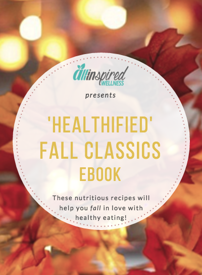 Receive this recipe eBook for FREE when you sign up for the 8-Week #FitforFall Transformation Challenge!