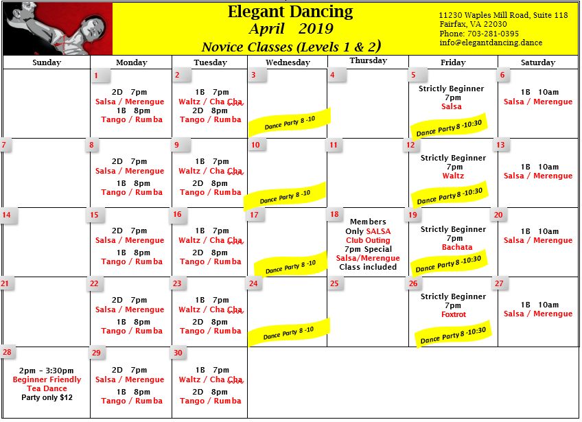Click image to see complete beginner calendar