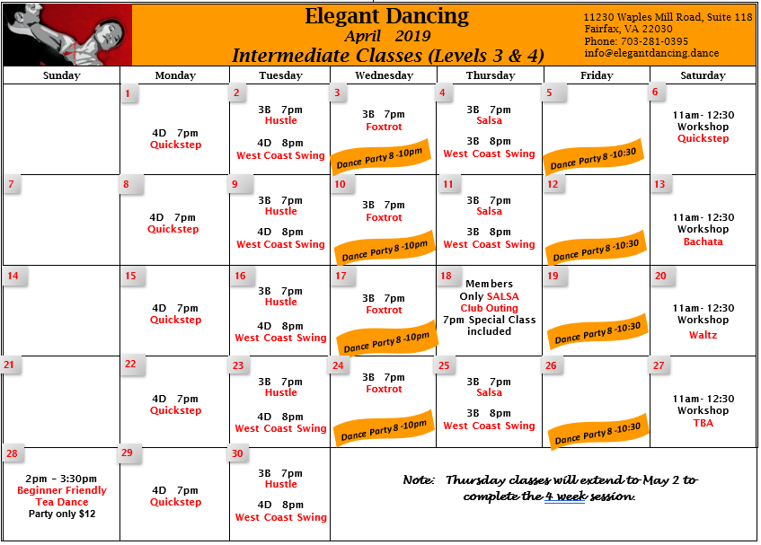 Click here to see complete Intermediate April calendar