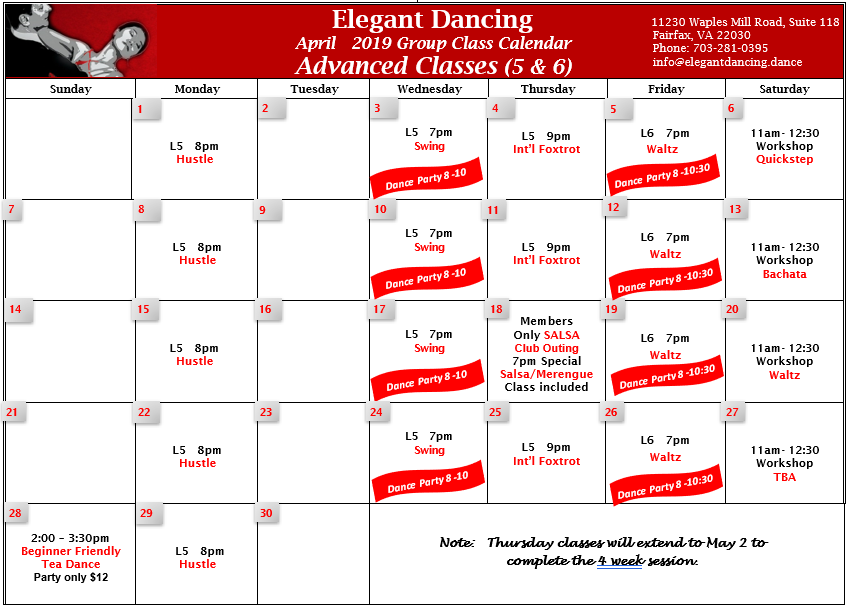 Click here to see complete Advanced April calendar