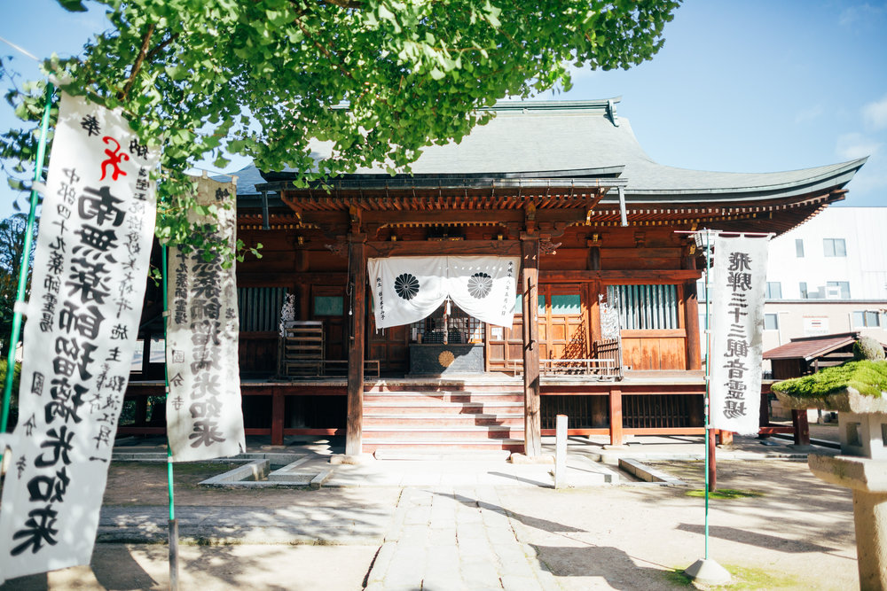 One of the halls at the Hida Kokubunji Temple. It is the oldest temple in Takayama and was originally built in 746 AD (thought it was later burnt down and rebuilt).Also on the premises are a three-story pagoda, as well as a 1200 year old gingko tree.