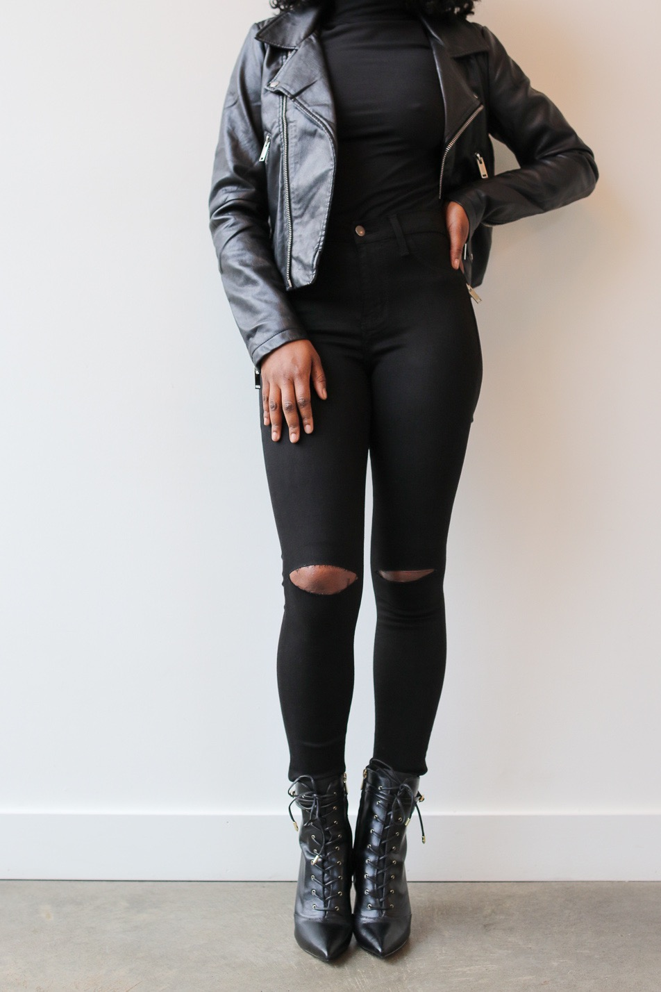 weak at the knees black pants 4twenty4 boutique
