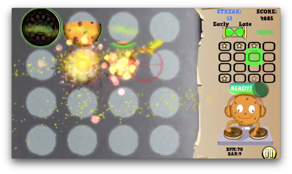 Cookie Beats particle effects