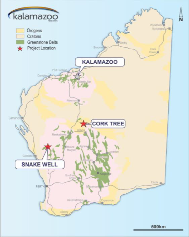 Figure 1. KZR Project Locations (Source: KZR)