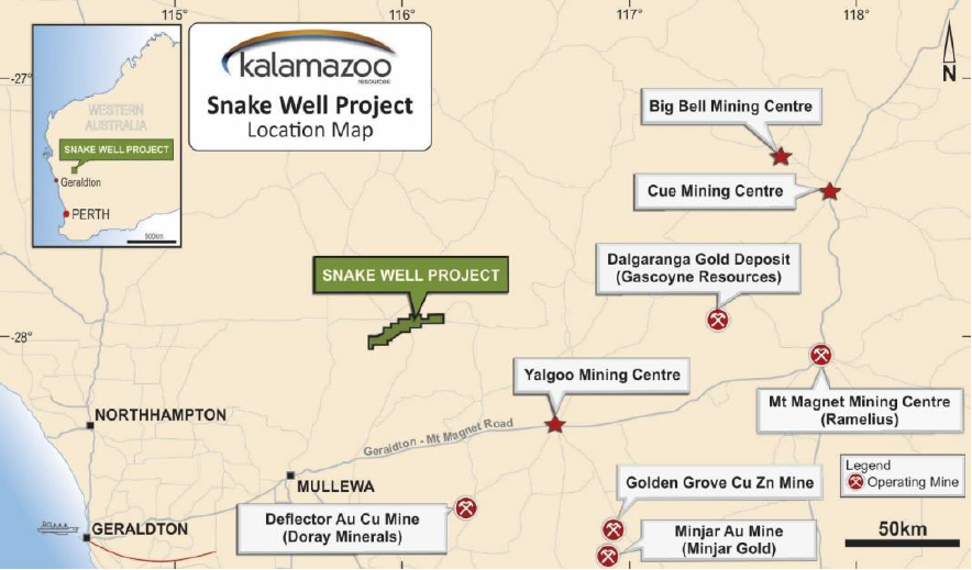 Figure 2. Location of Snake Well and surrounding projects (Source: DJC)