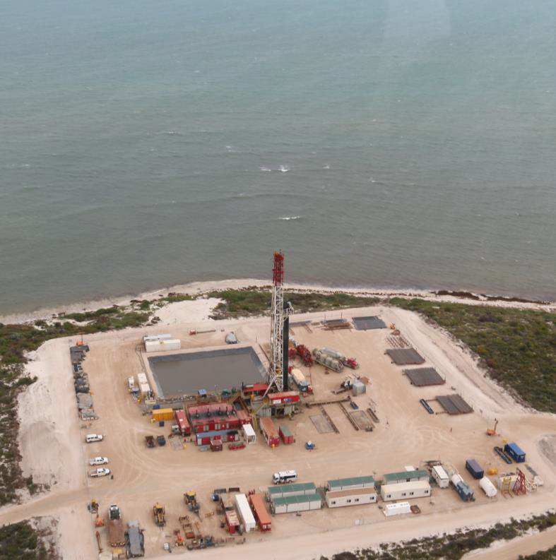 Figure 2: The Enerdrill 3 rig onsite at the Xanadu-1 well. (Source: DJC)