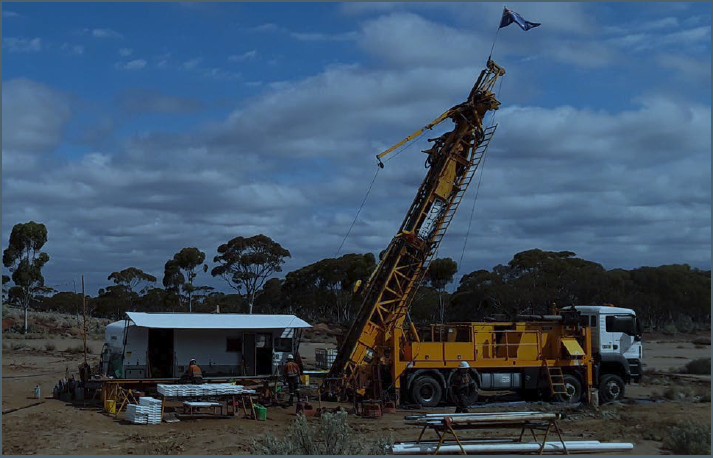 Figure 1: Diamond rig drilling at the Queen Margaret Mine, Bulong.