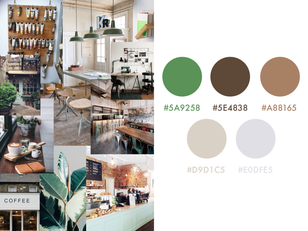 coffee shop color scheme