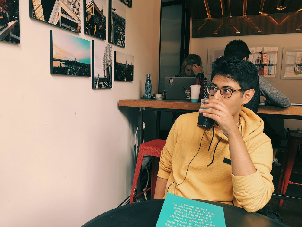 I spend a lot of time staring at walls, coffee in hand.