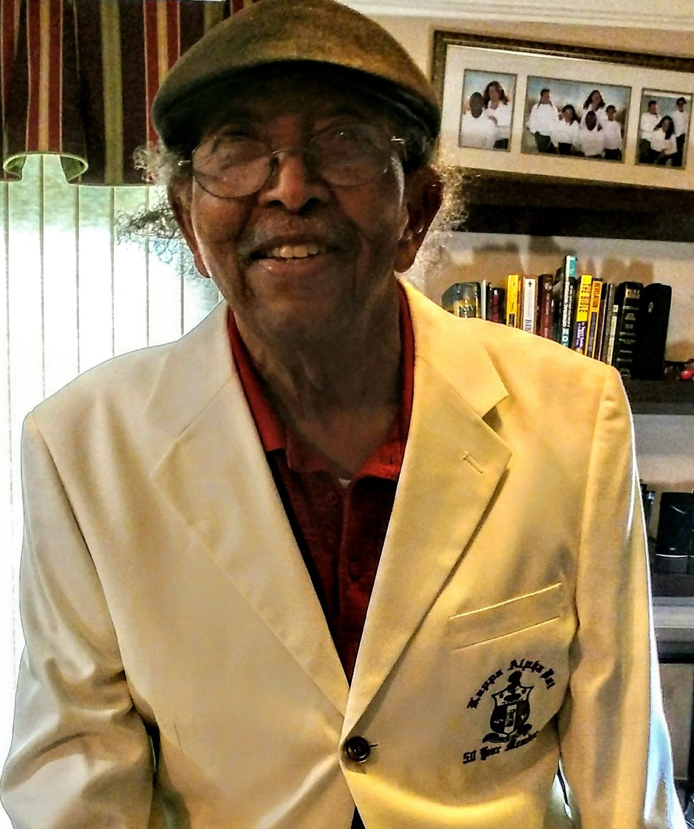 Brother Howard Robinson Recieves his 50 Year Jacket - Polemarch Brother Carlen J. Chestang, Jr. and KOR Brother Cedric D. Cole visited our dear Brother Howard Robinson in Florence, AL and presented him with his 50 year jacket recently. Brother Robinson is doing well and is in great spirits. Brother Robinson wished all his Kappa Brothers well, and told us to