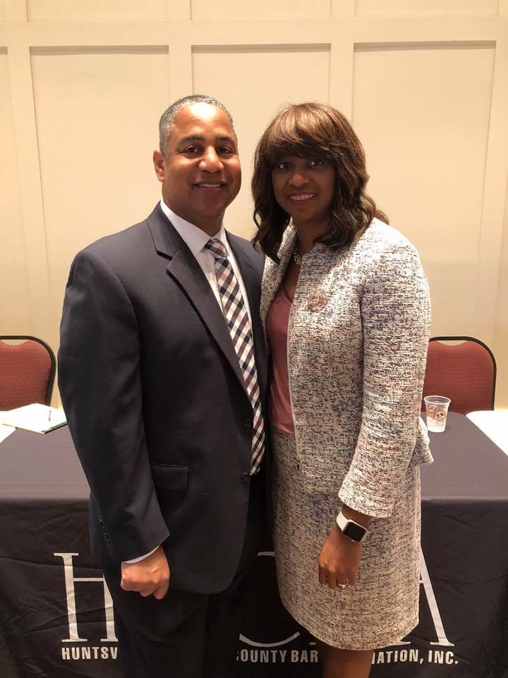 Honoring Brother Debro! - Congratulations to Brother Mark Debro, pictured with his lovely wife, Silhouette Ane Debro, on his election as the President of the Huntsville-Madison County Bar Association!