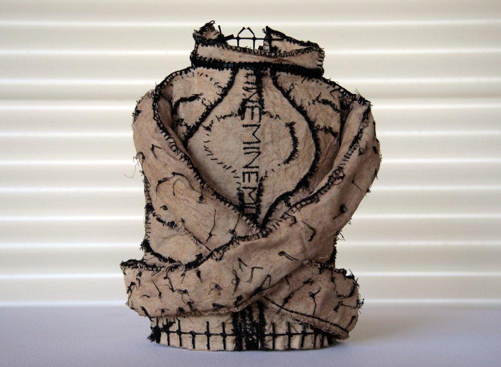 Mild Persuasion (2009). Fabric, wire, plastic & stitch.