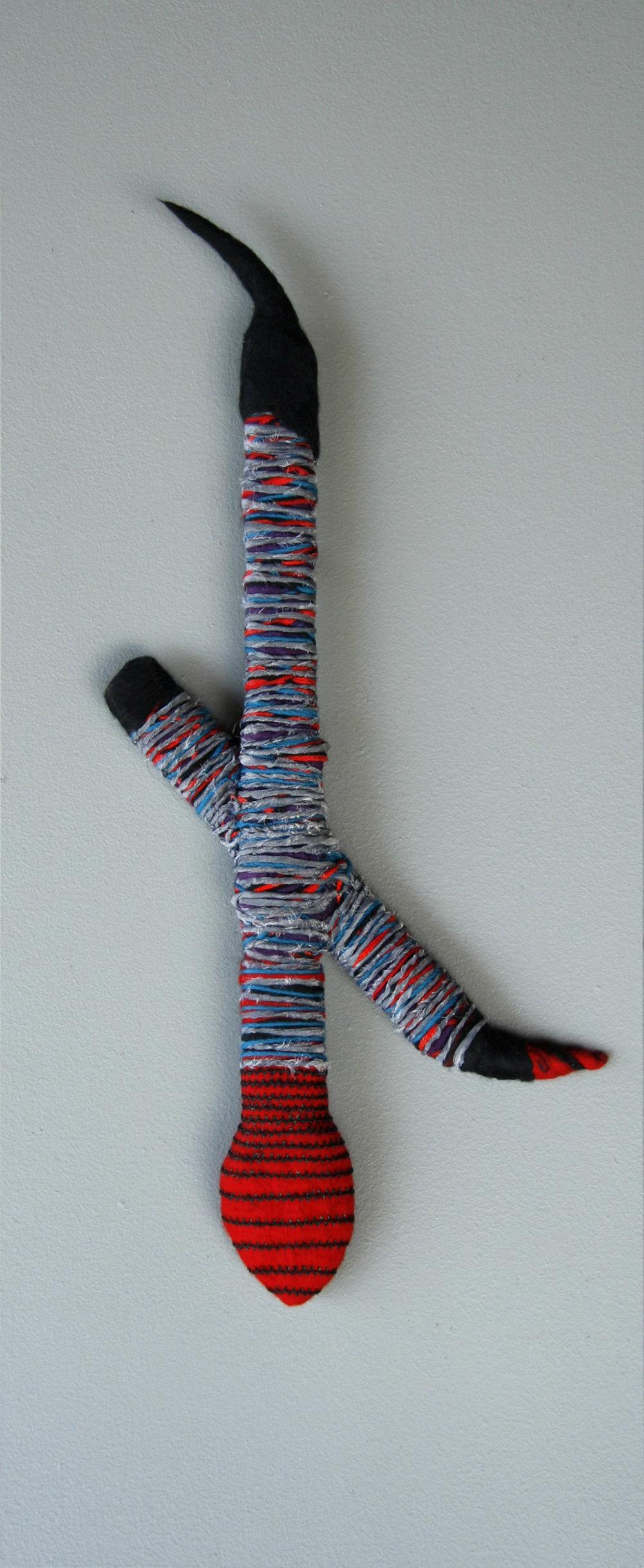 Za (2009). Fabric, felt, thread & wood