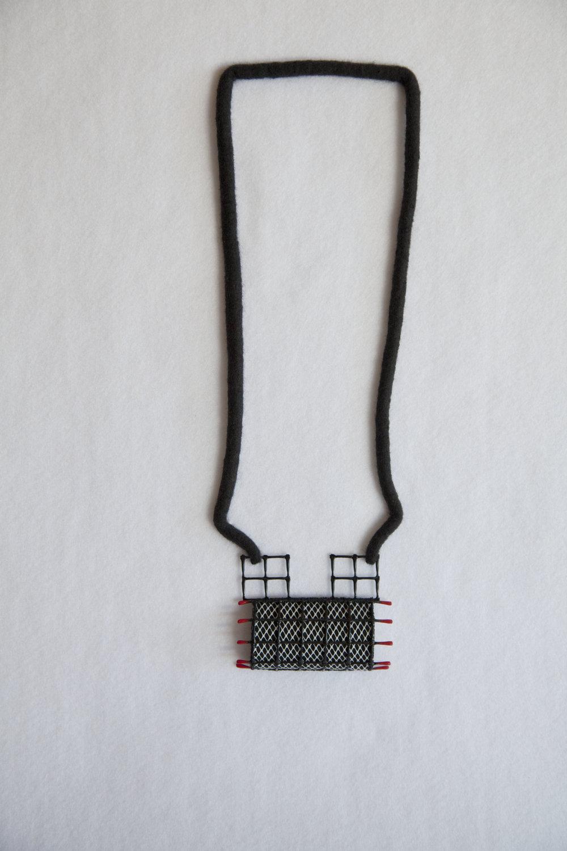 Spanish Whispers III (2011). Felted merino wool, plastics & wires.