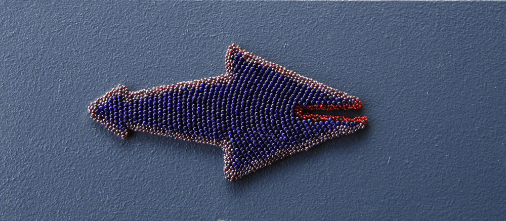 Duenda (2010). Felt & glass beads.