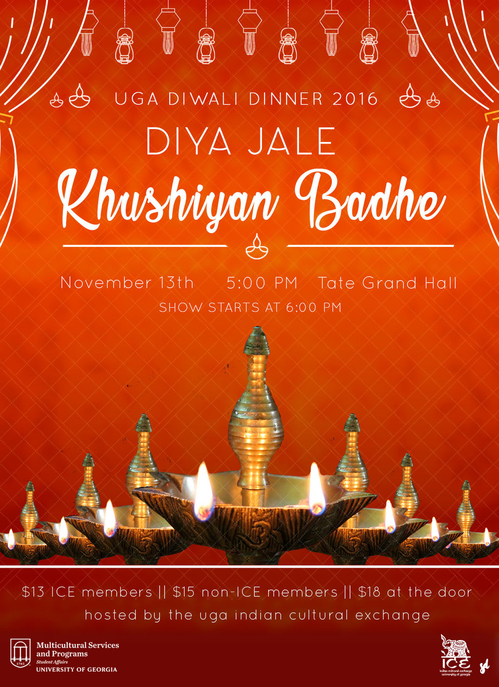 Saloni Doshi Diwali Flyer Graphic Design