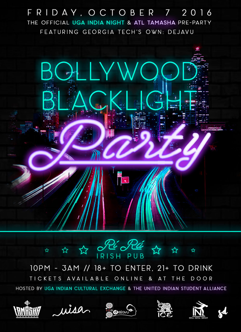 Saloni Doshi Bollywood Party Flyer Design