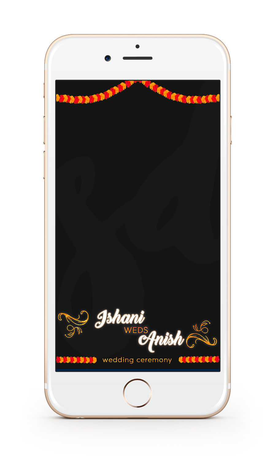 Saloni Doshi Wedding Snapchat Filter Design