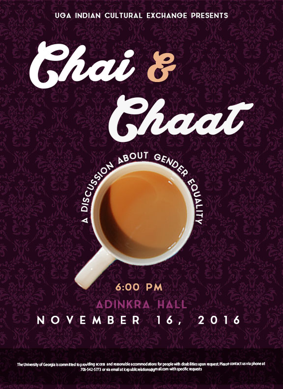Saloni Doshi Chai and Chaat Flyer Design
