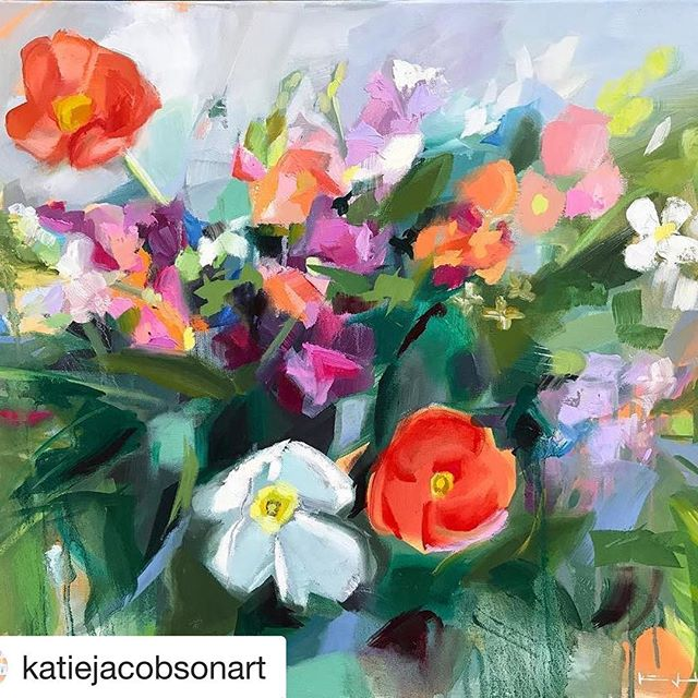 #Repost @katiejacobsonart (@get_repost) ・・・ One of my favorites from the floral collection 🌷 The show is this Thursday!! There will be prints of this painting at the show. Prints and the paintings that are available the following day, will be on my website Friday at 9am. ➖ The show is taking place in an air bnb in Historic Columbus.  209 W 8th street  Columbus GA 31901  5:30-8:30 With ➖ @bentbycourtney @brownsandhounds  Food, wine, champagne included 😉🥂
