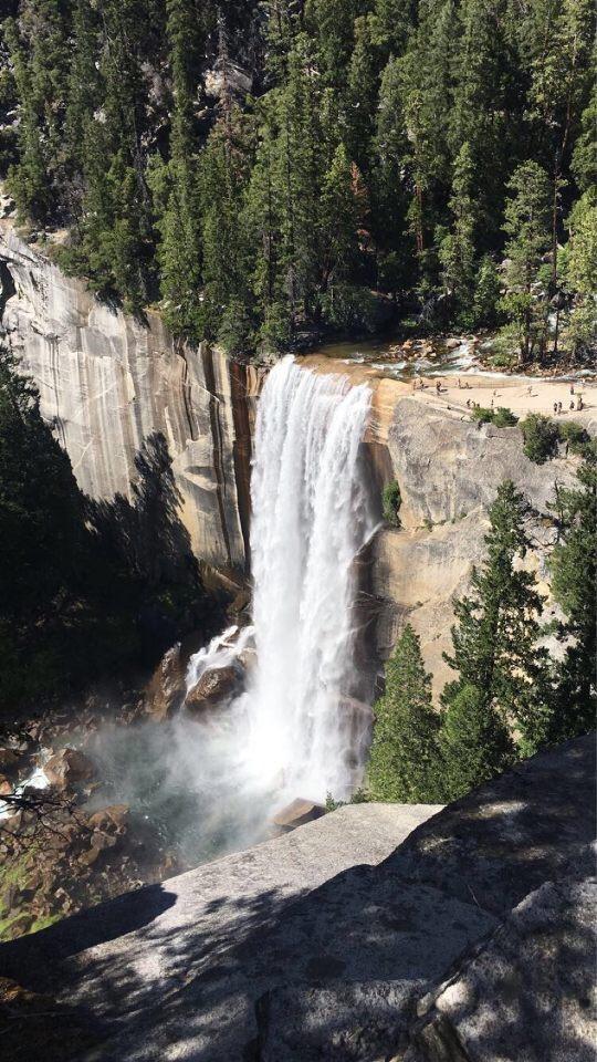 Vernal Falls from the John Muir Trail