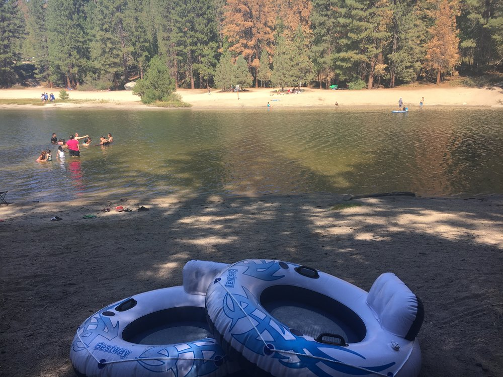 Floating on Hume Lake