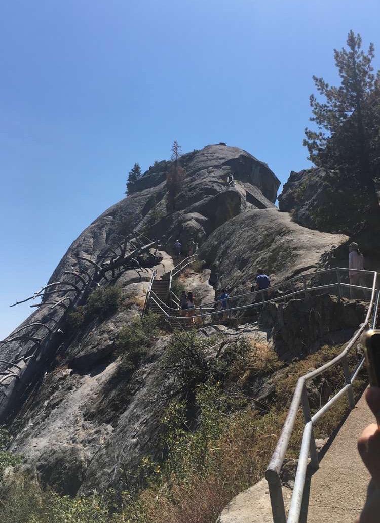 Climbing Moro Rock's 400 Steps