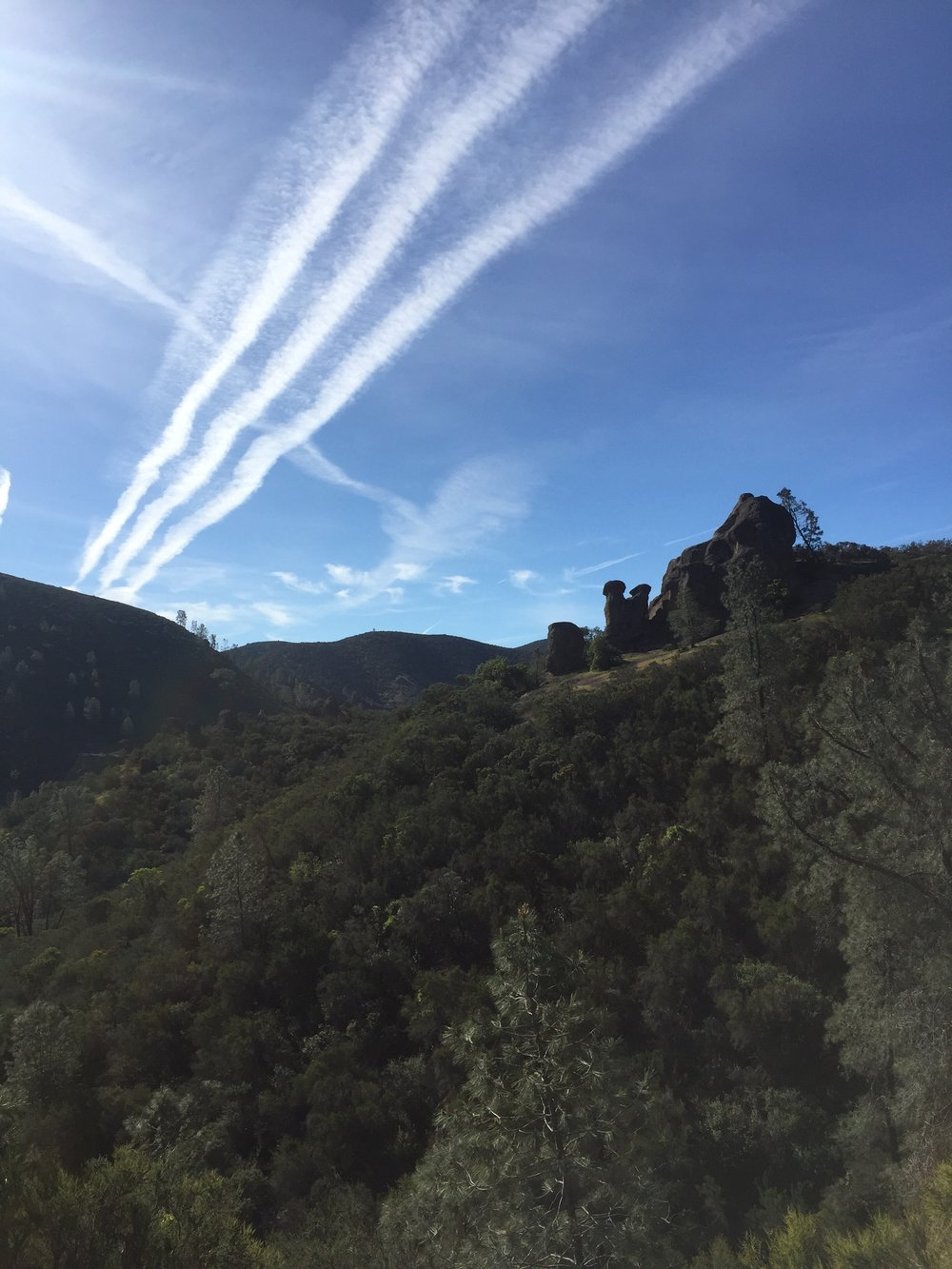 There is no shortage of magnificent scenery at Pinnacles