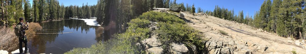 Hiking on the Pacific Crest Trail in Truckee, CA