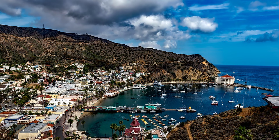 Avalon, pictured here, is more touristy than Two Harbors