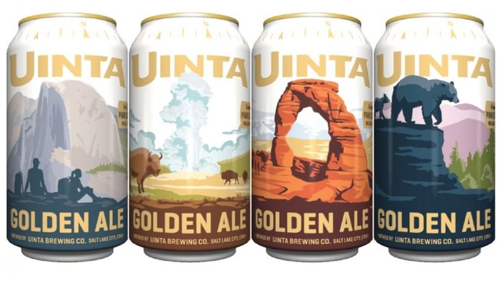 Uinta Brewery is releasing a Golden Ale Rotating Park Series to celebrate and support our National Parks.