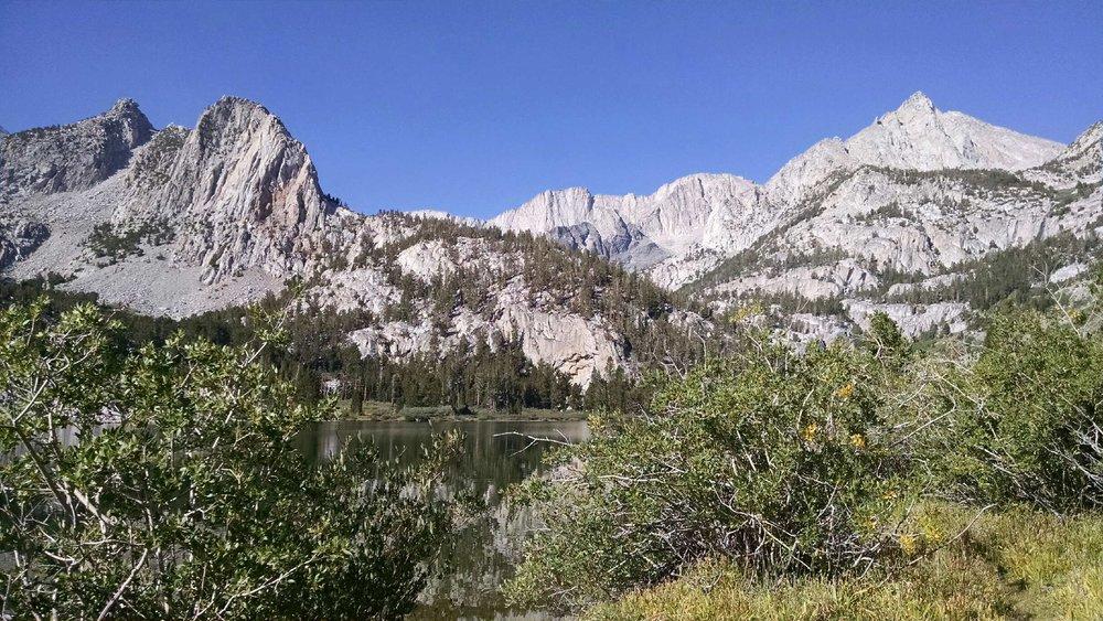 The rugged terrain