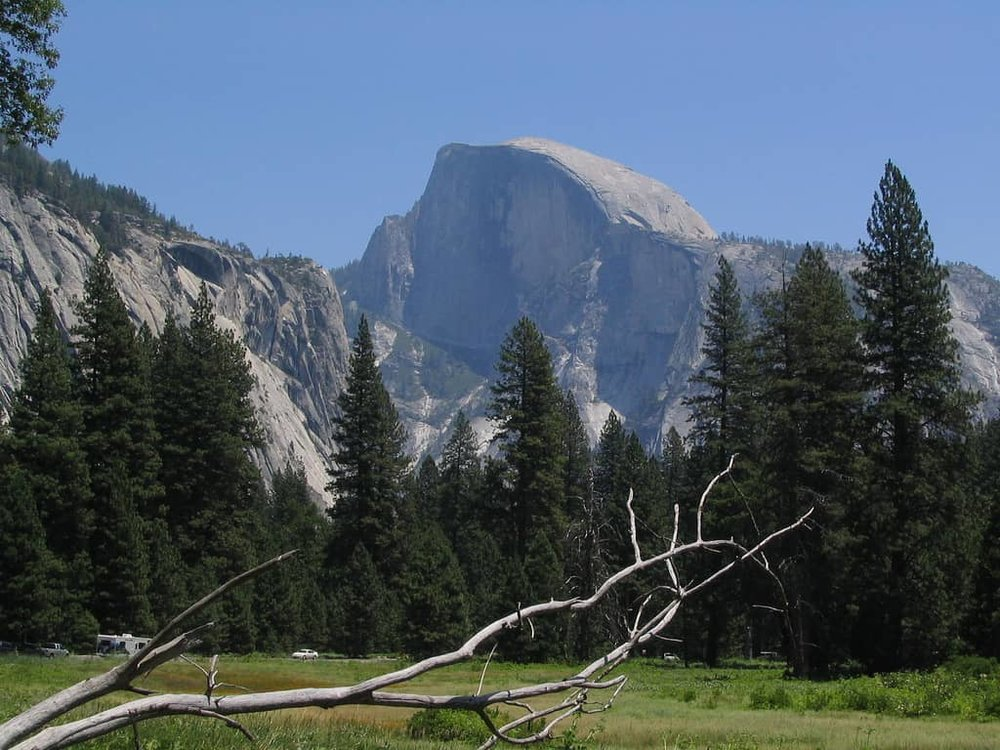 View of Half Dome from Yosemite Valley
