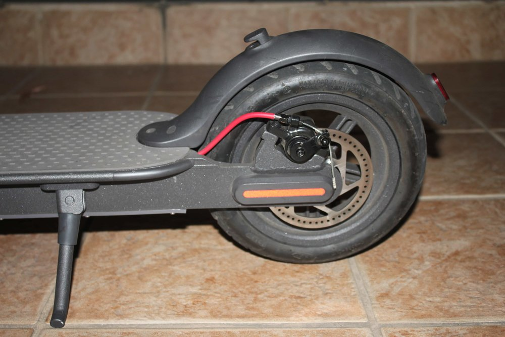 Rear wheel with disc brake