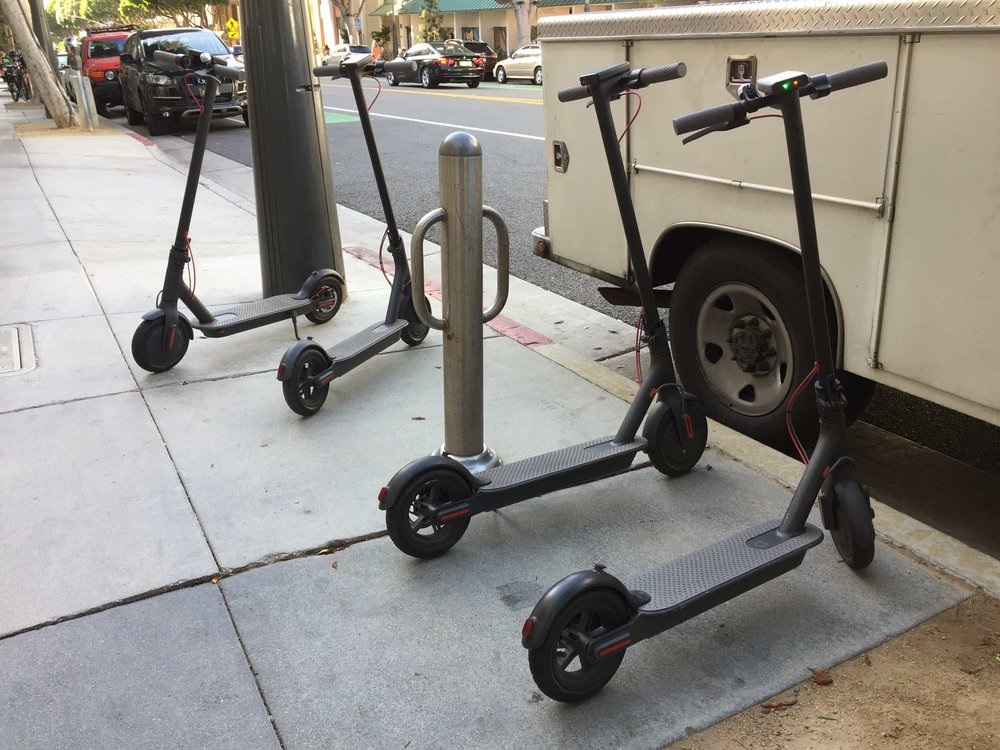 Bird Scooters a few days after launch