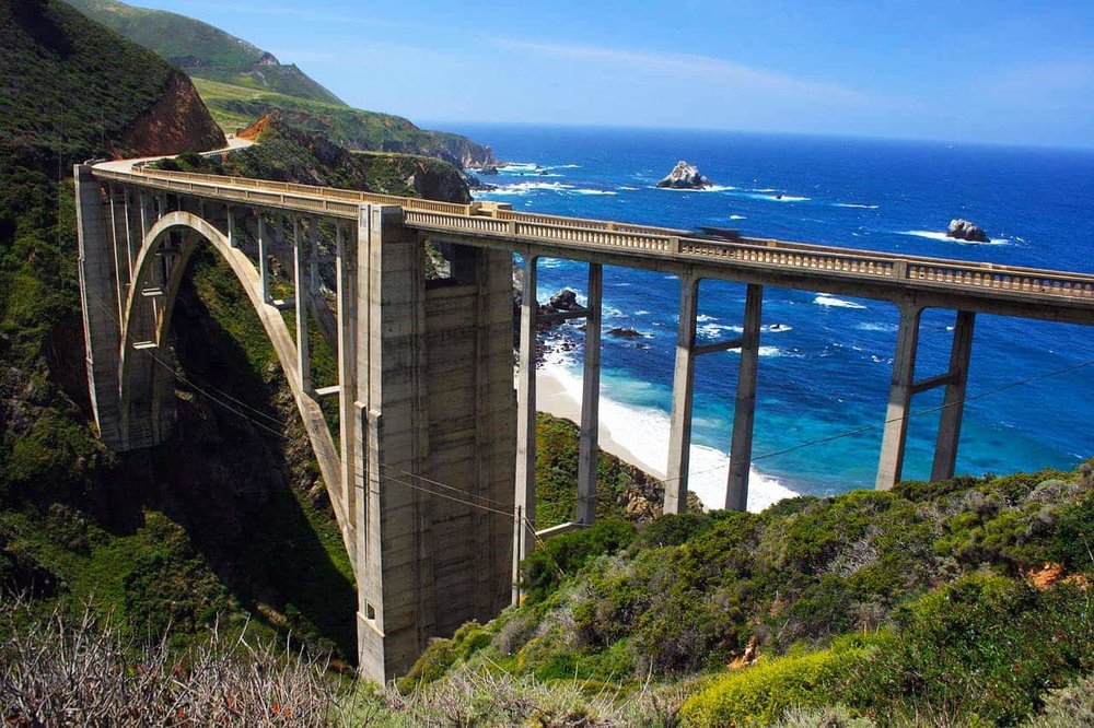 Big Sur's famous Bixby Bridge via  Supermac1961