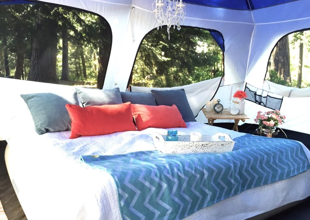 Glamping with air mattresses