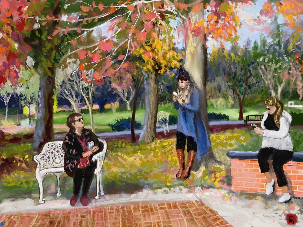 iPad Art Students at Holbrook Palmer Park