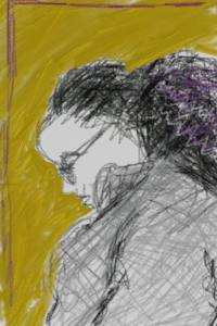 iPhone sketch in Peets, done using Art Set