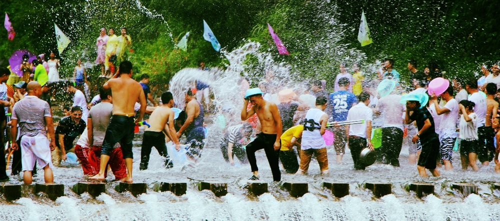 Water Festival that happens during Songkran, Thai New Year. The celebration usually last about a week during the second week of April.