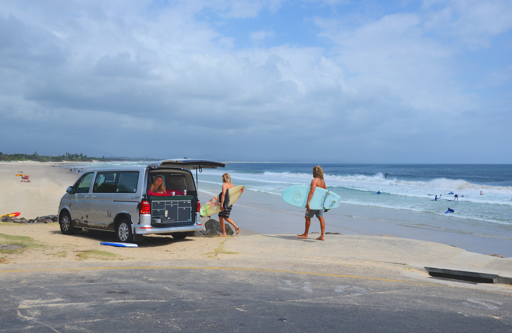 Volkswagen Mutlivan Campervan at Byron Bay