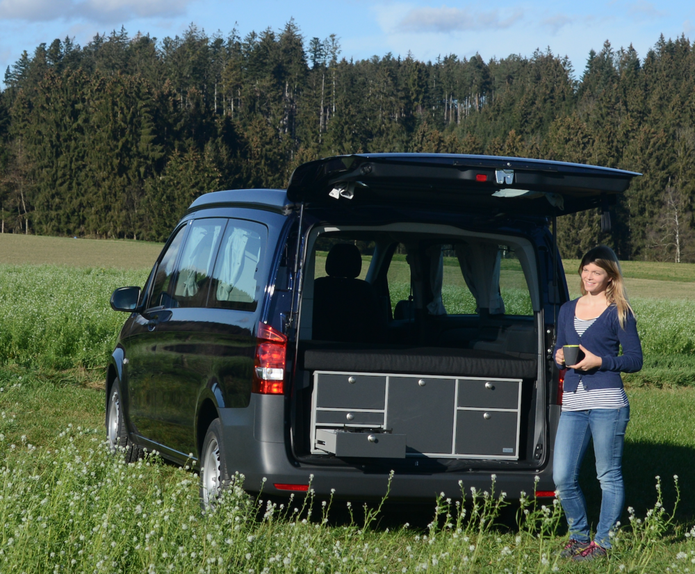The Marco Polo Activity fitted with VanEssa mobilcamping Rear Kitchen - photographed in Bavaria (overseas model shown)