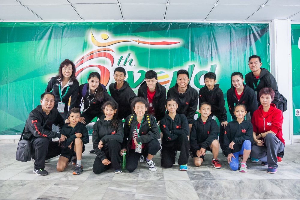 Master Li (far right) with Adam, Zeina, Remy, Erica, Rex, Nima, Ashley and other members of the Canadian Wushu Team.