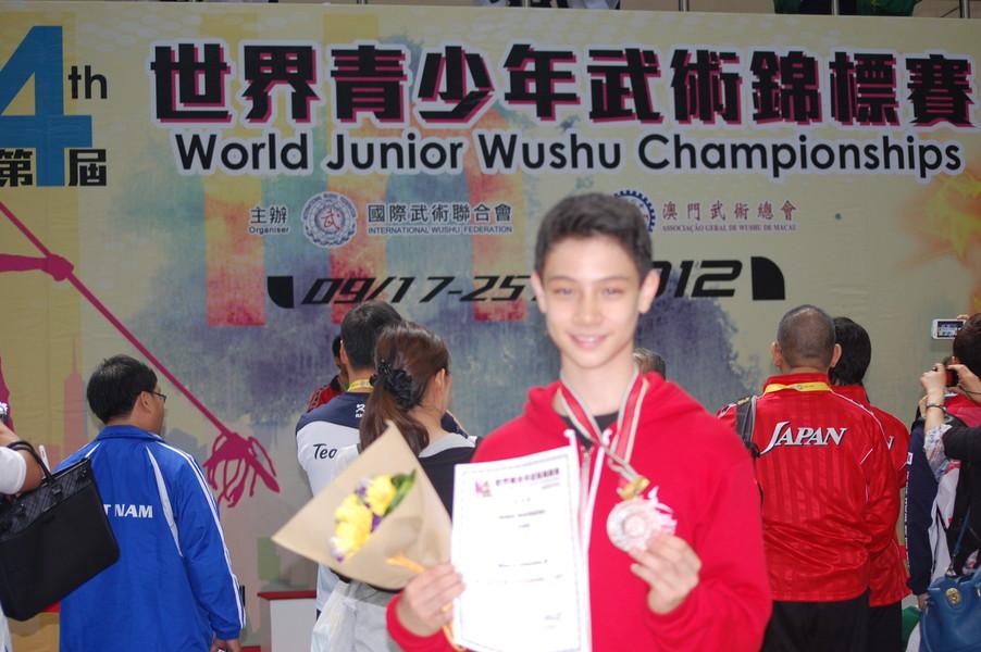 Nima, bronze in Jianshu, at the 4th WJWC in Macau, China.