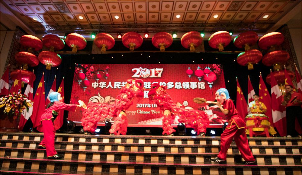 Wayland Li Lion Dance team in action.