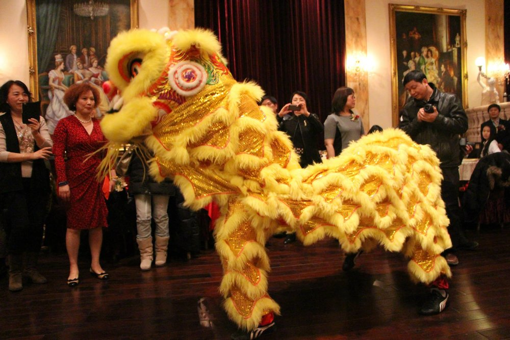 Lion Dance performance at a social occasion