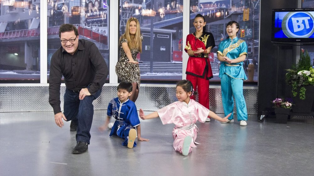"Wushu demonstration on Canadian television, CityTV's ""Breakfast Television"" 2010"