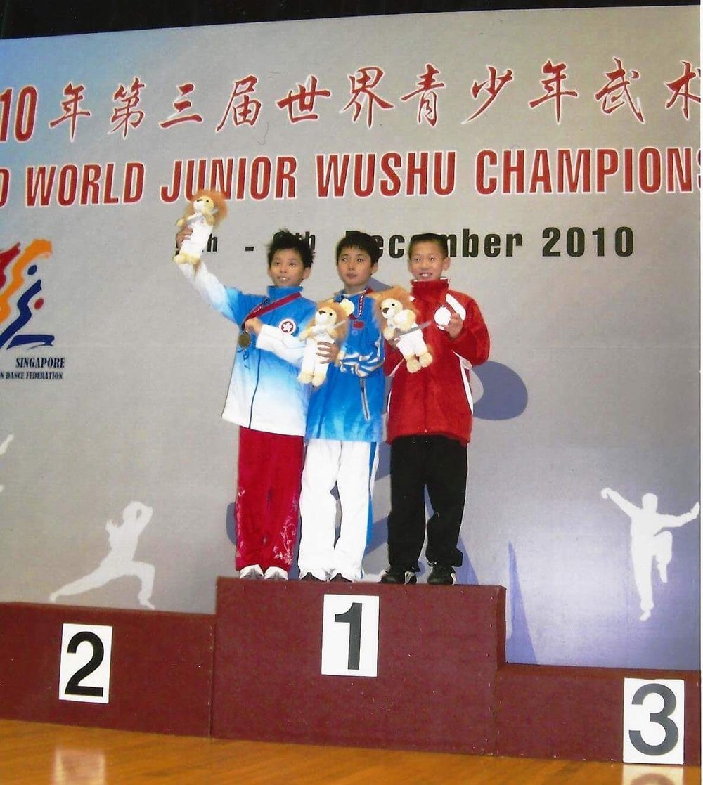On the medal stand at the 2010 WJWC